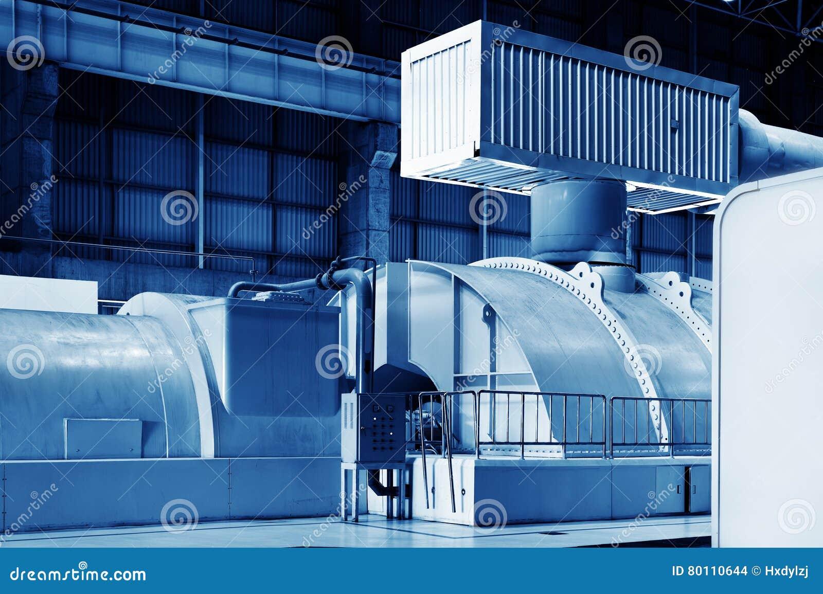 Modern Boiler Room Equipment For Heating System Stock