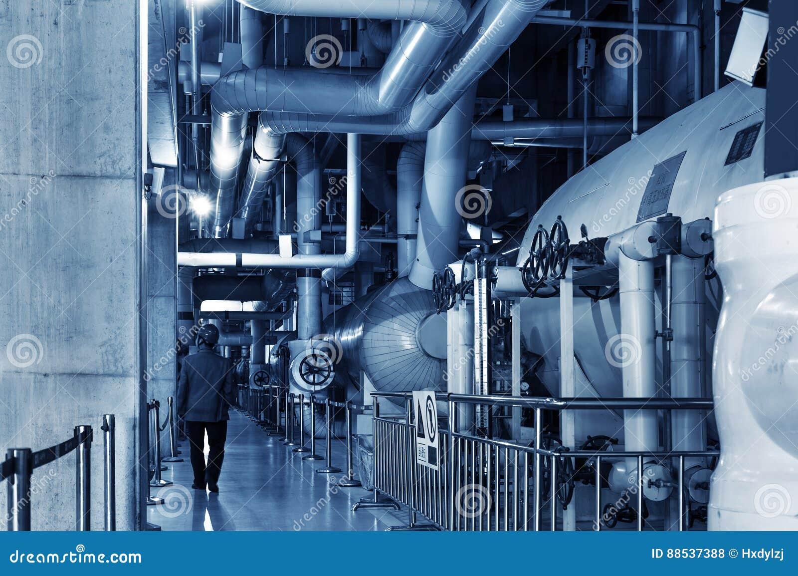Modern Boiler Room Equipment For Heating System. Stock Photo - Image ...