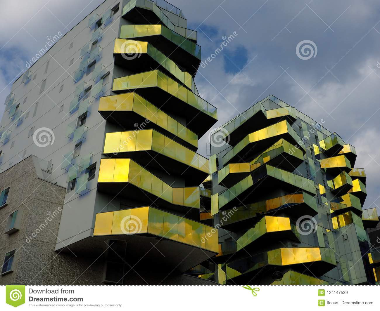 Bold Paris modern and bold construction in paris editorial stock image - image