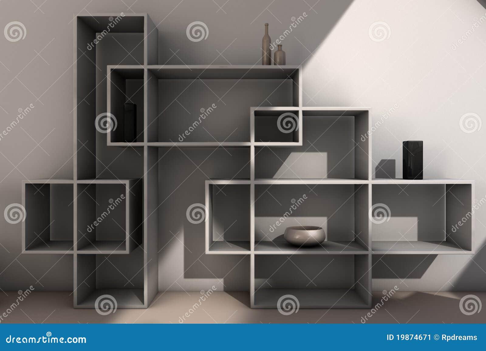 modern bookcase stock illustration image of interior. Black Bedroom Furniture Sets. Home Design Ideas