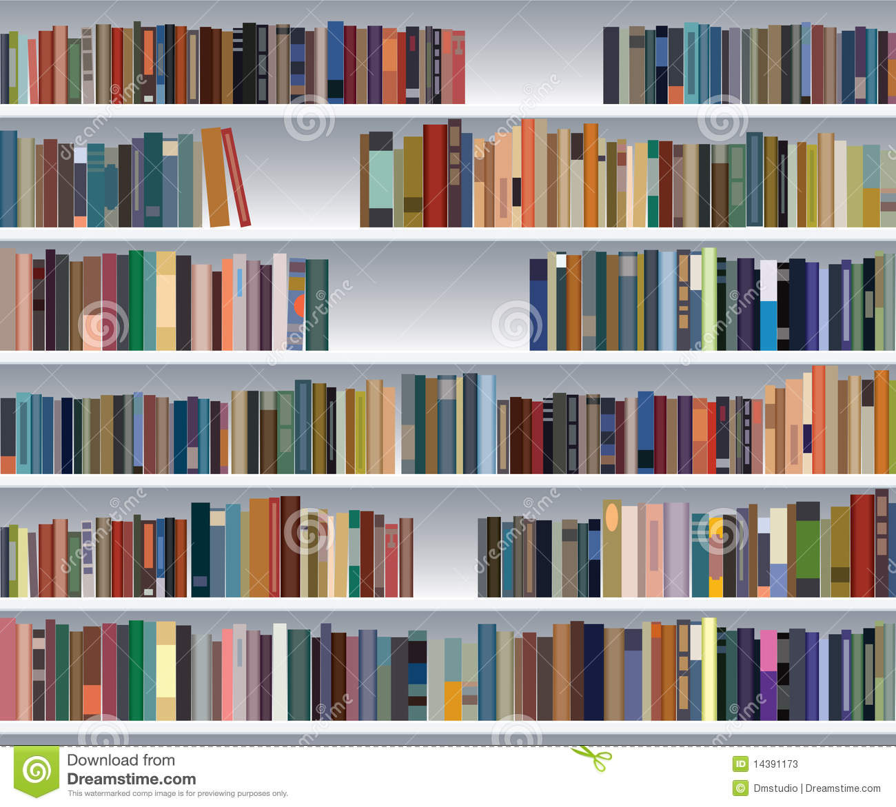 Modern Bookshelf Stock Photos - Image: 14391173