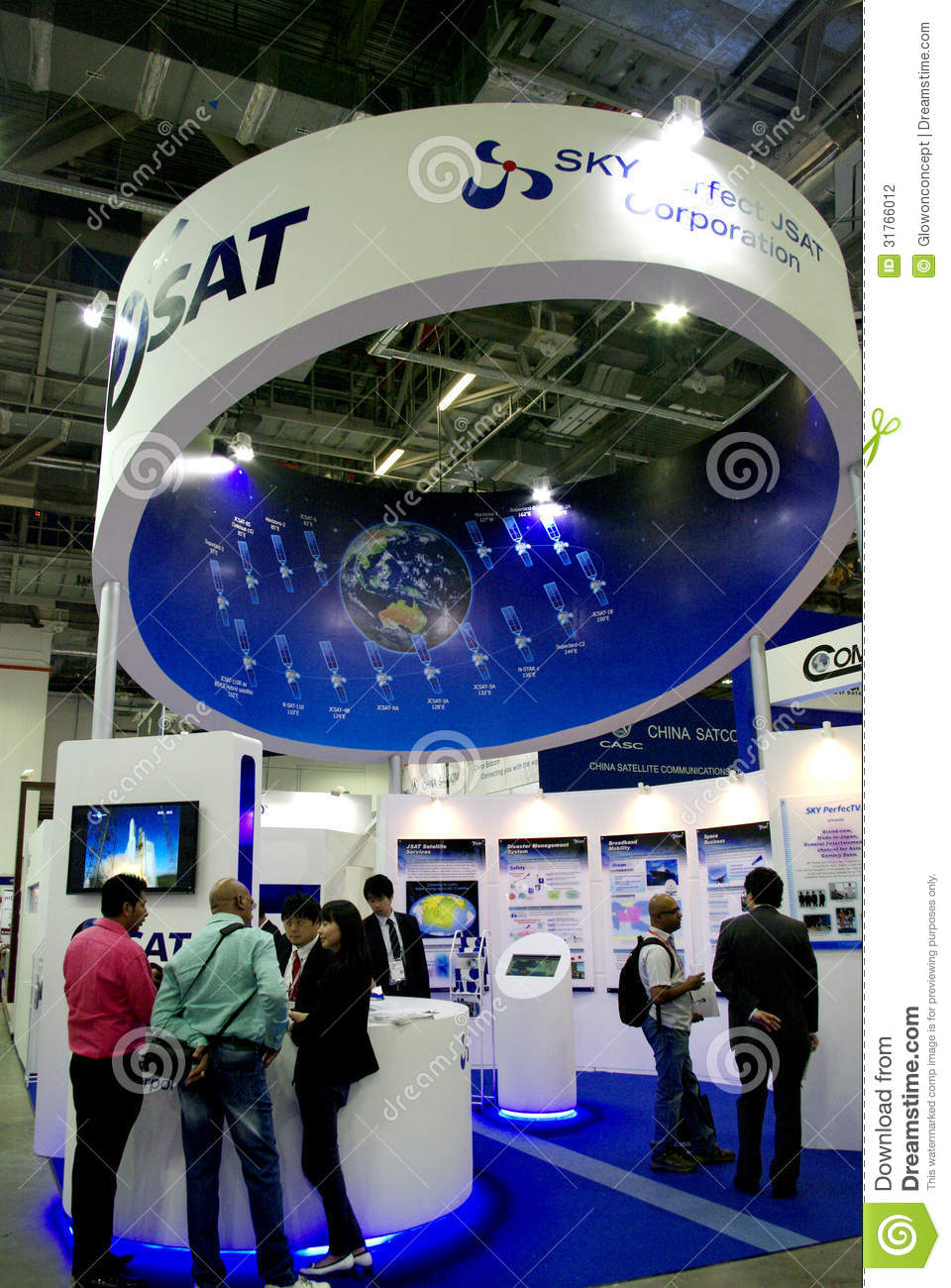 Modern Exhibition Booth Design : Modern booth design editorial photography image of