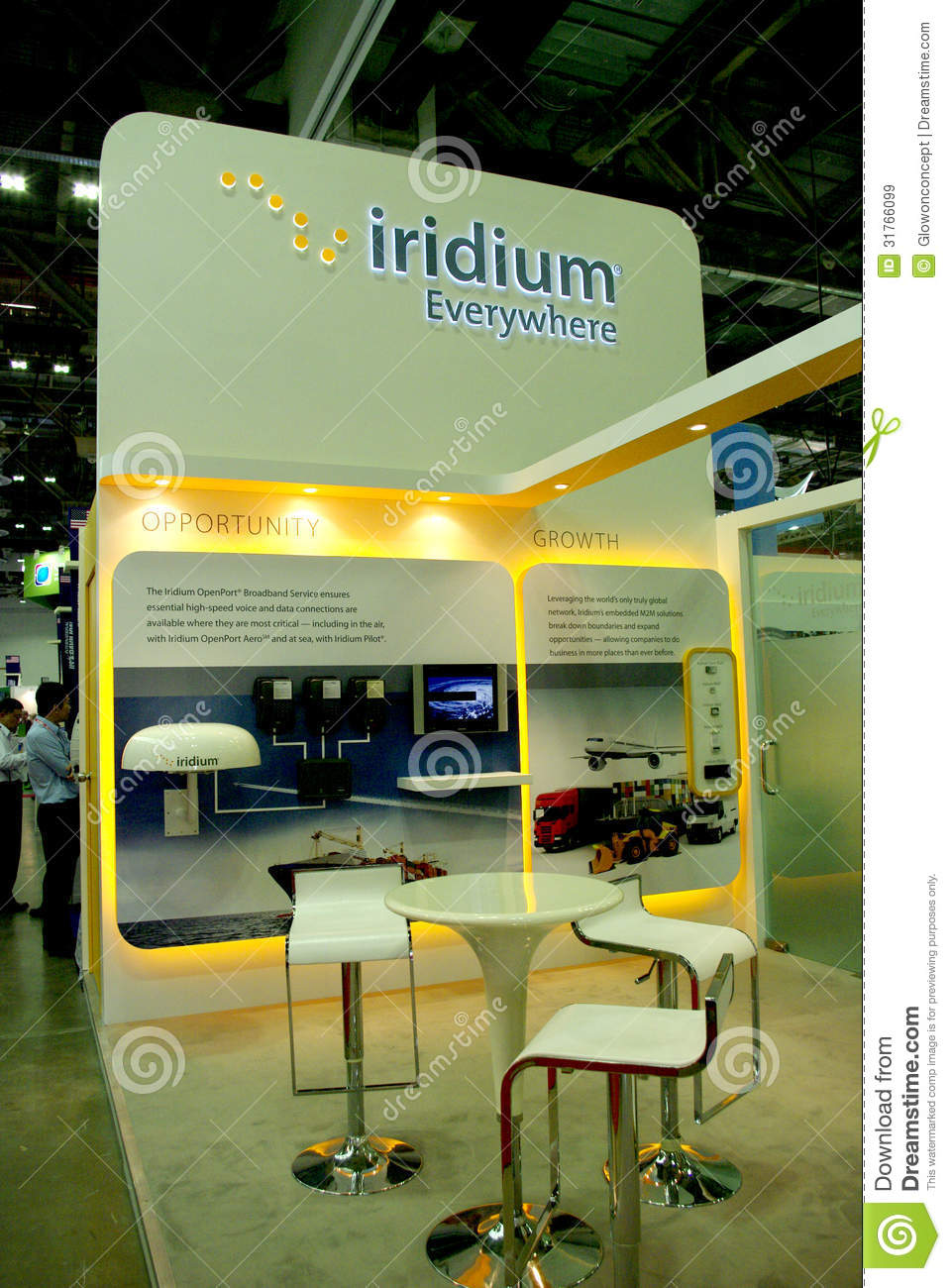 Modern Exhibition Booth Design : Modern booth design editorial stock image