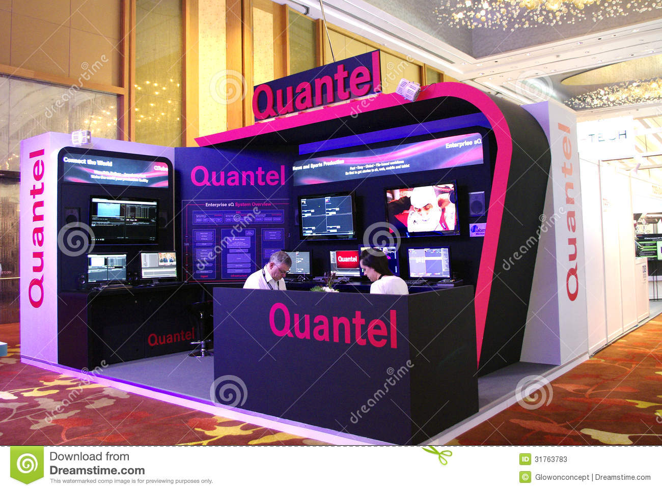 Modern Exhibition Booth Design : Modern booth design editorial stock photo image