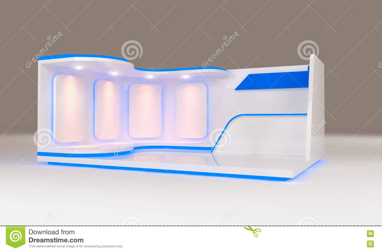 Modern Exhibition Booth Design : Modern booth exhibition stock illustration image