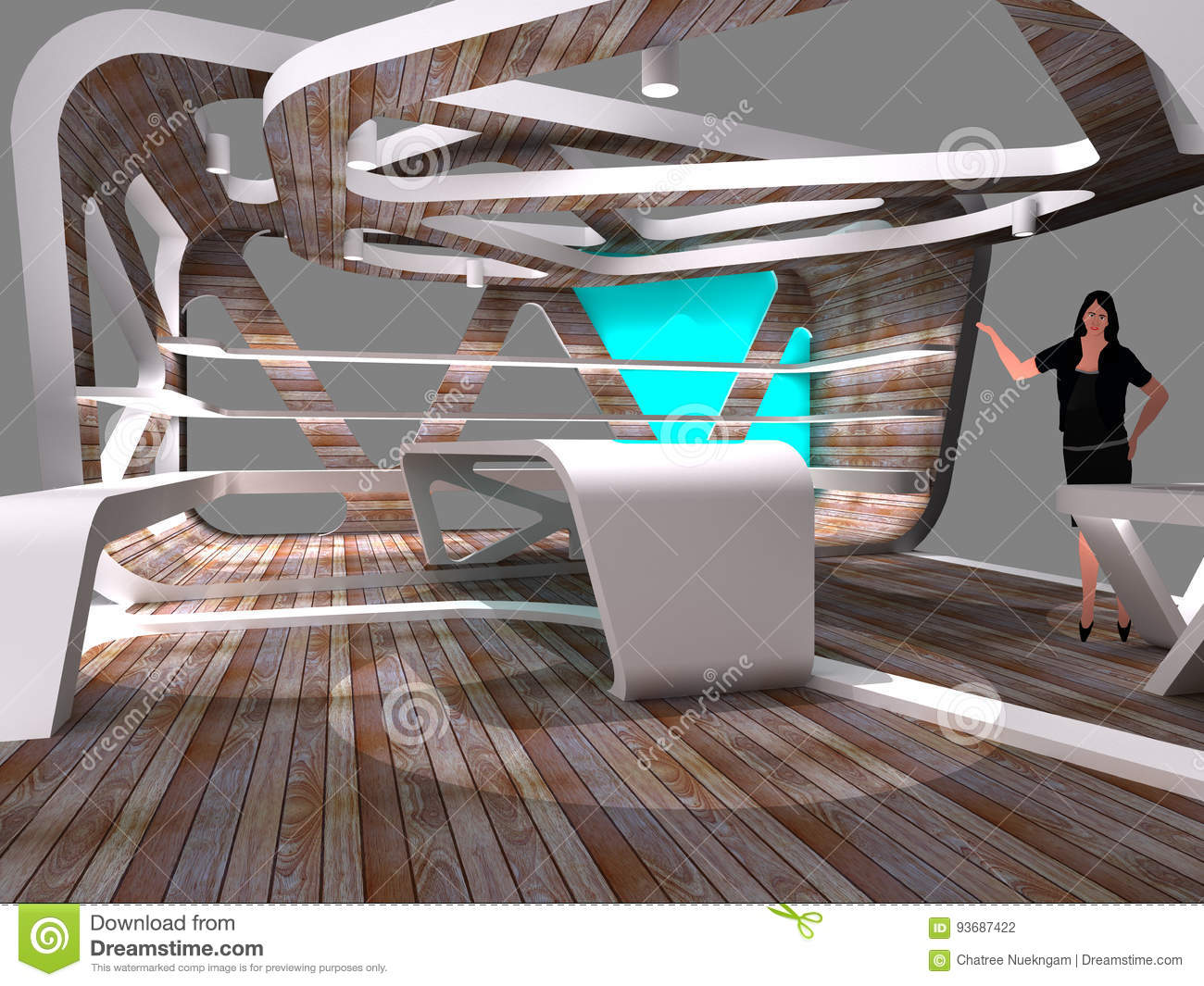 D Exhibition Design : Modern booth exhibition design stock illustration illustration