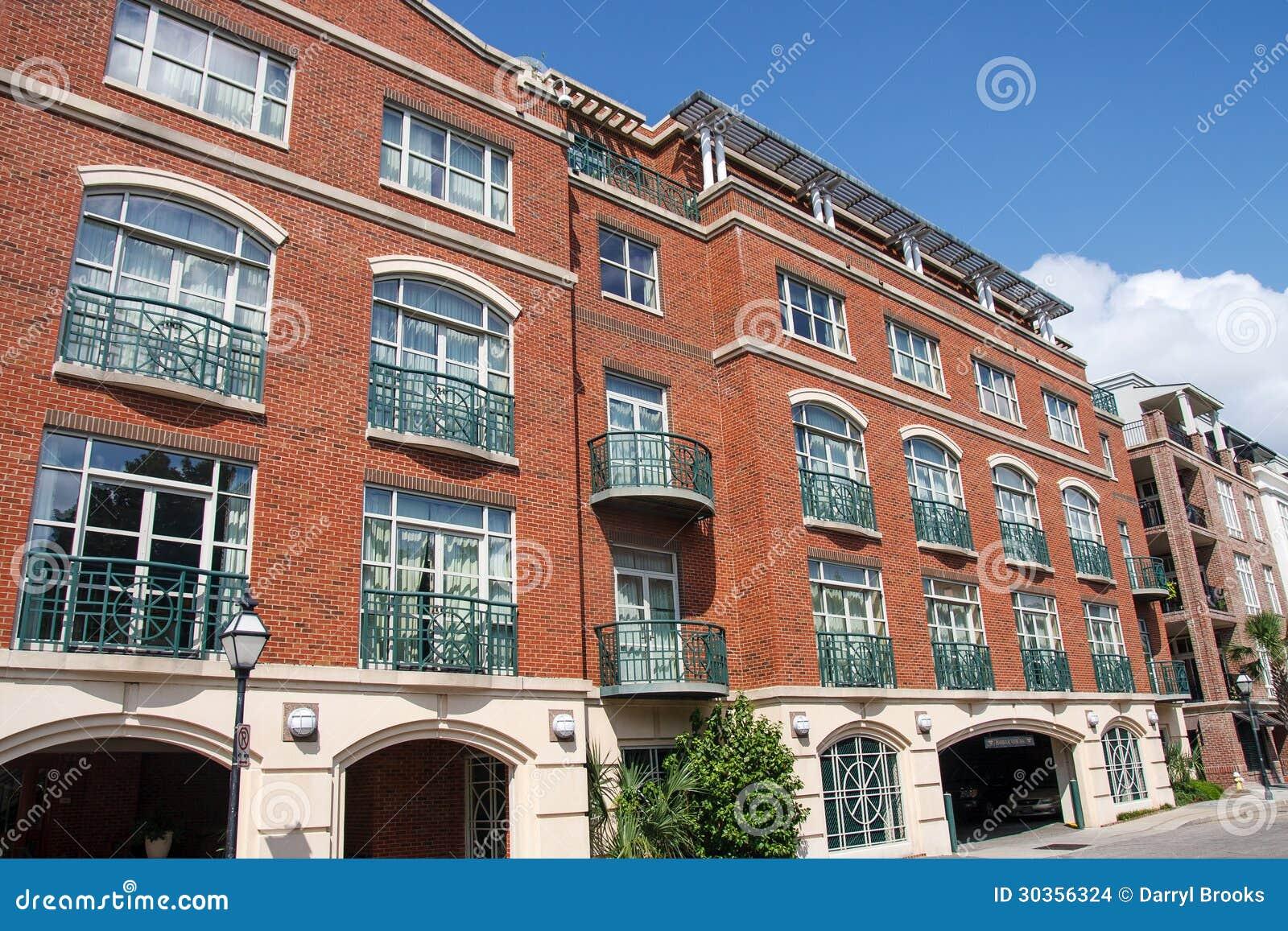 Modern Brick Apartment Building. Modern Concept Brick Apartment ...