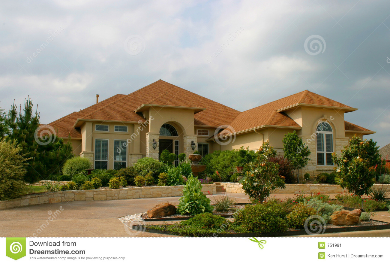 Modern Brick And Stucco House Stock Image Image 751991