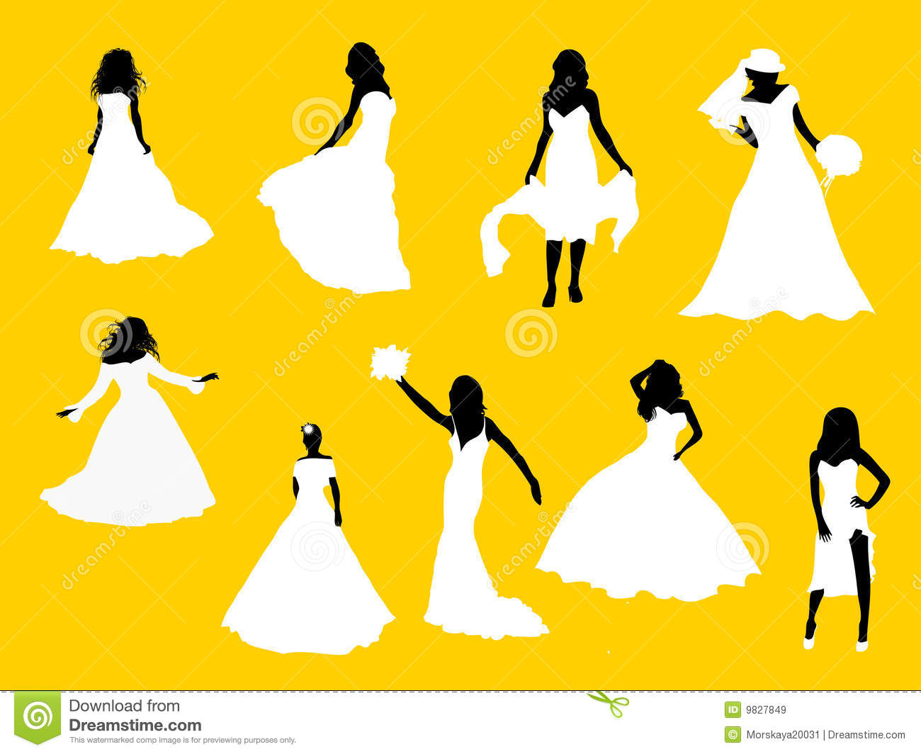 MODERN BRIDES Silhouettes Royalty Free Stock Images ...