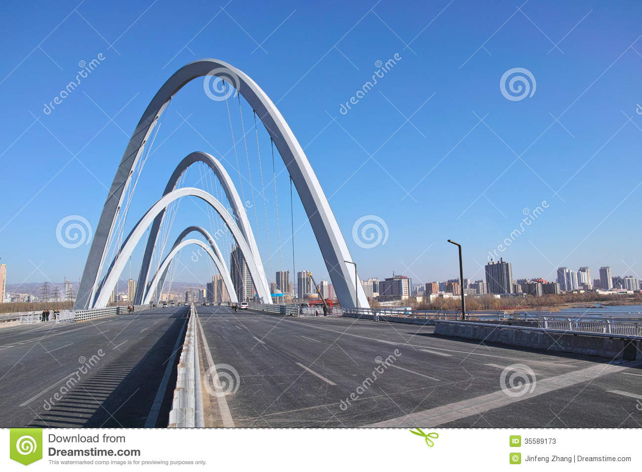 Modern bridge editorial stock photo image of building for Moderne landschaftsbilder