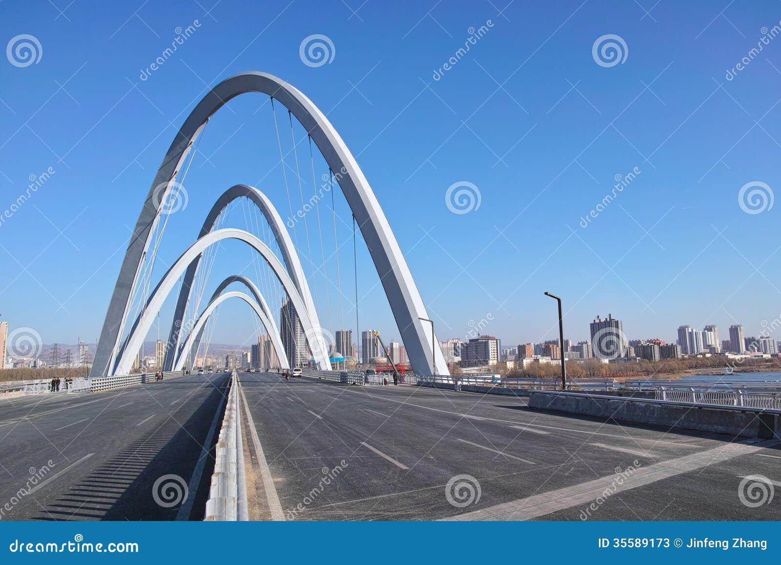 Modern bridge editorial stock photo image of building for Moderne landschaftsbilder