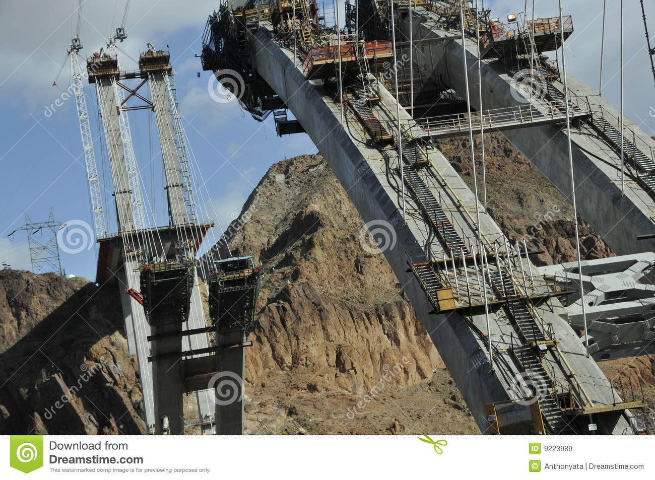 modern bridge construction royalty free stock images
