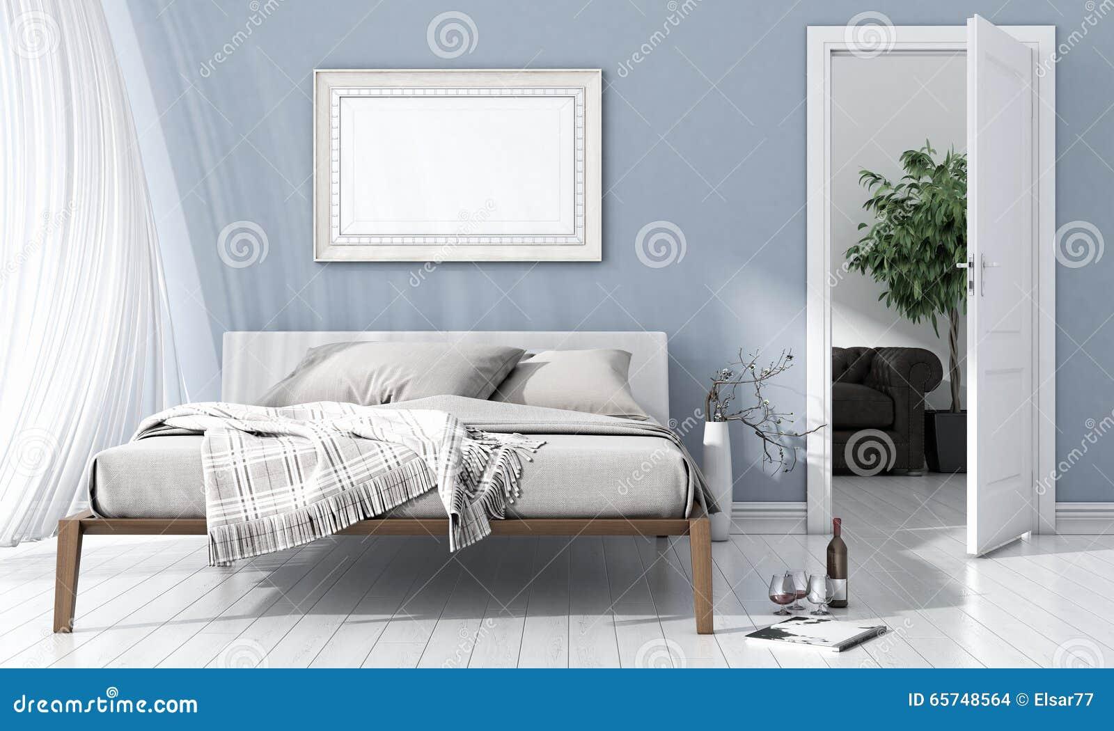 Modern Bright Interior 3D Render Stock Photo Image