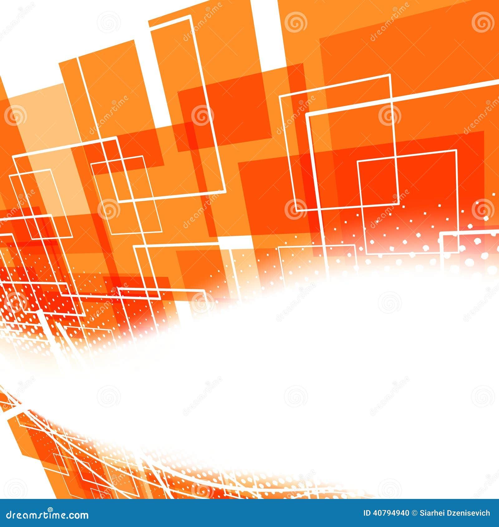 Modern Bright Orange Swoosh Background Stock Vector