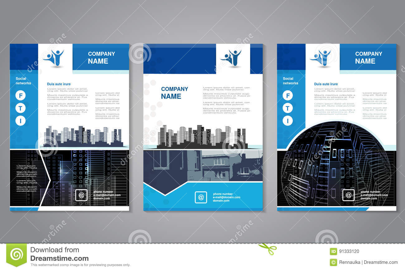 modern brochure abstract flyer with background of buildings city