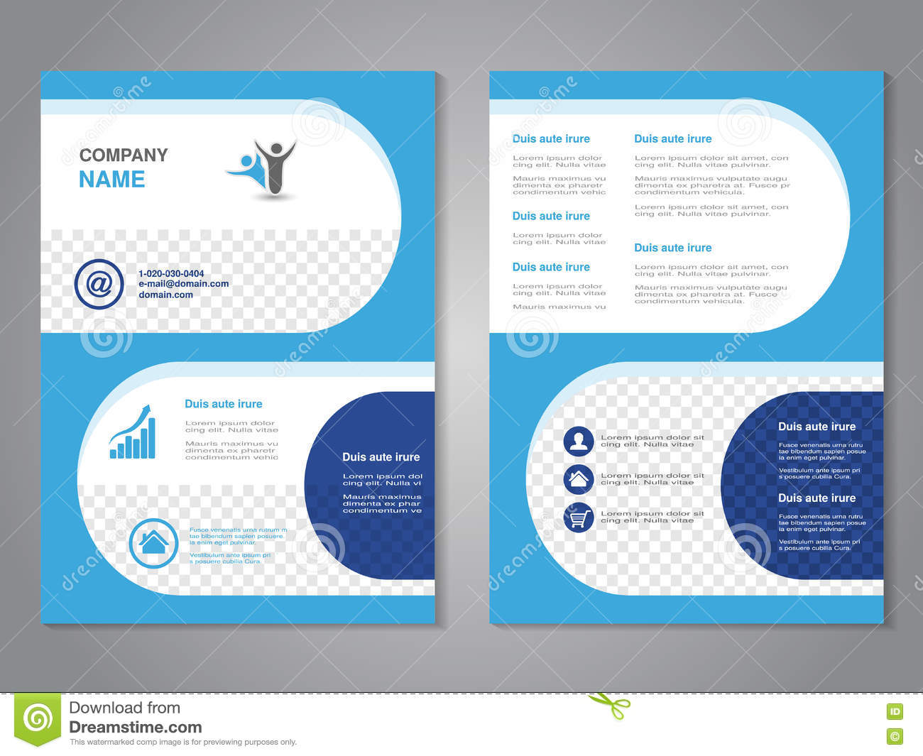 simple brochure templates - modern brochure abstract flyer simple design with