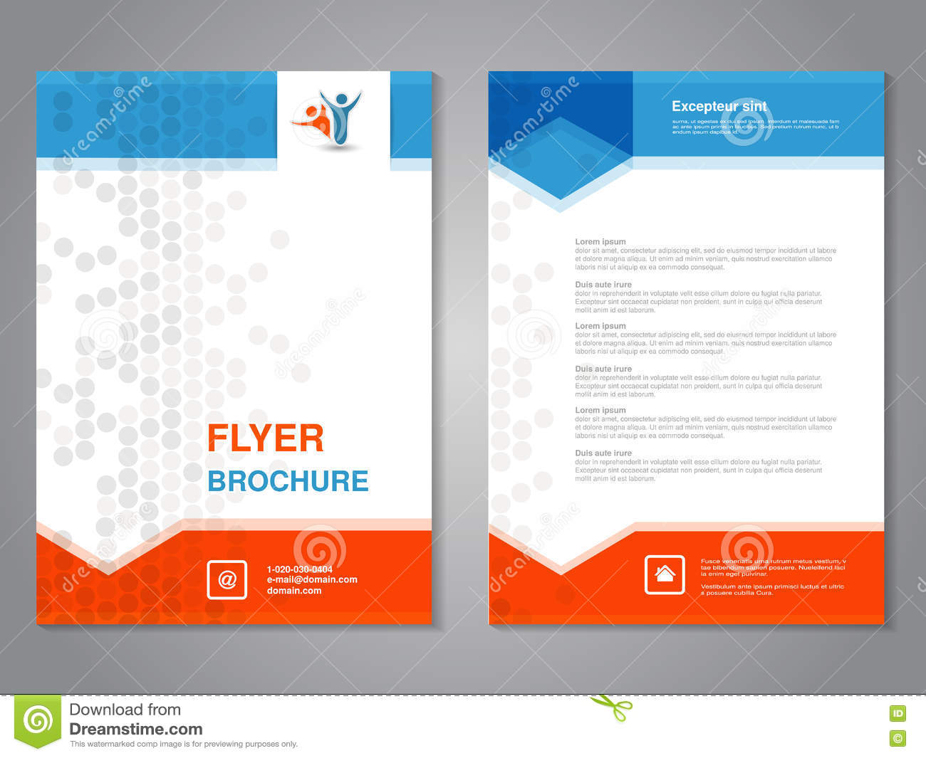 Modern Brochure Abstract Flyer With Simple Dotted Design Layout - Basic brochure template