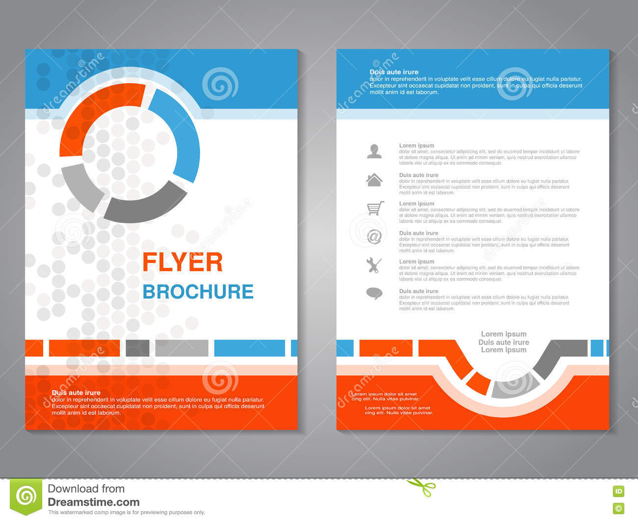 modern brochure, abstract flyer with simple dotted design. layout