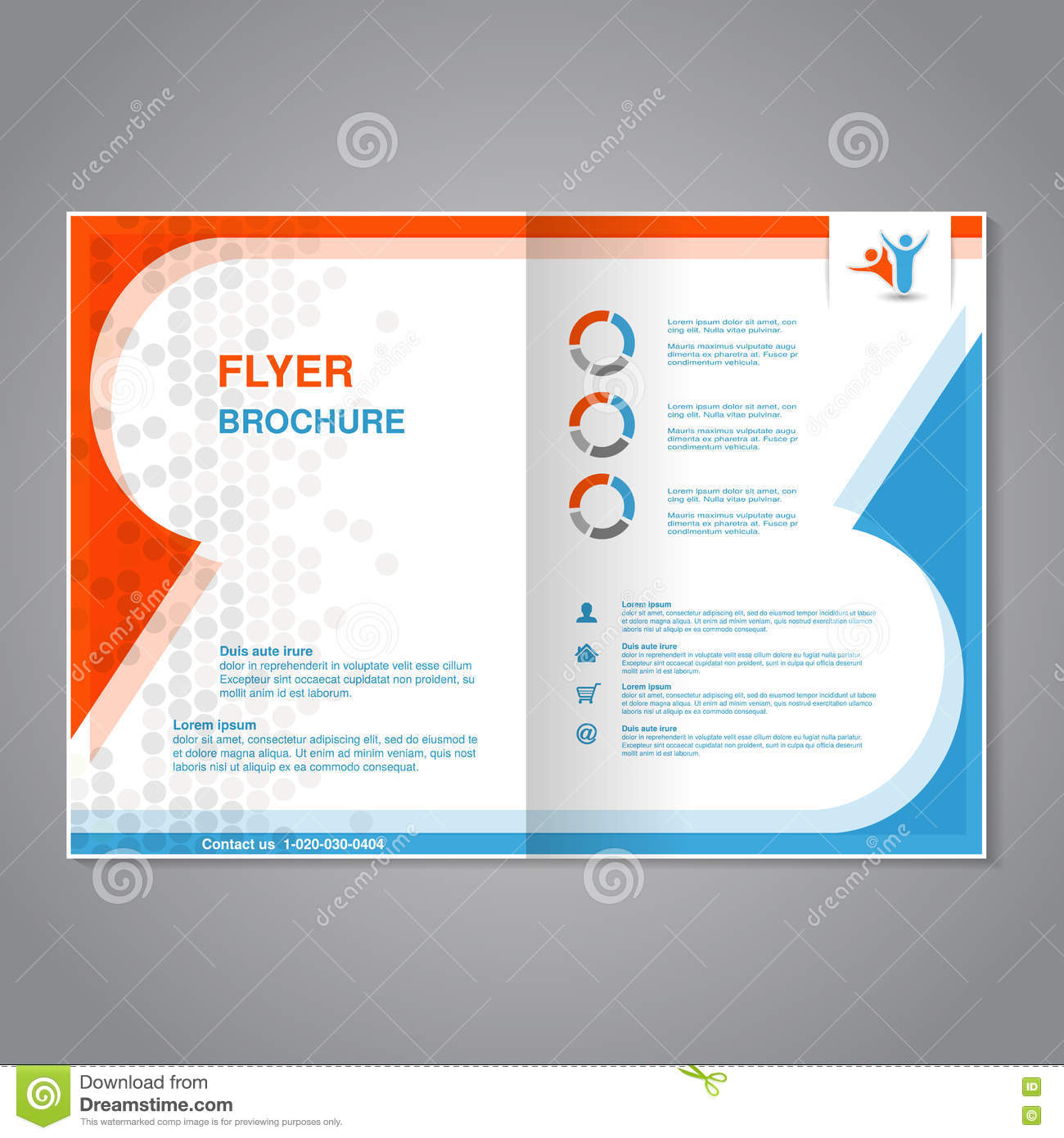 Poster design layout templates - Modern Brochure Abstract Flyer With Simple Dotted Design Layout Template Aspect Ratio For