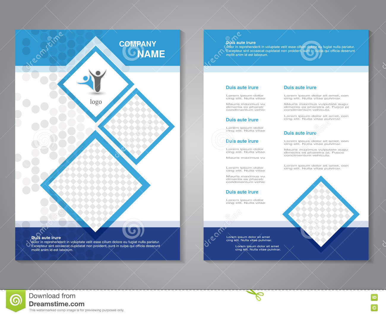 modern brochure abstract flyer simple dotted design with squares