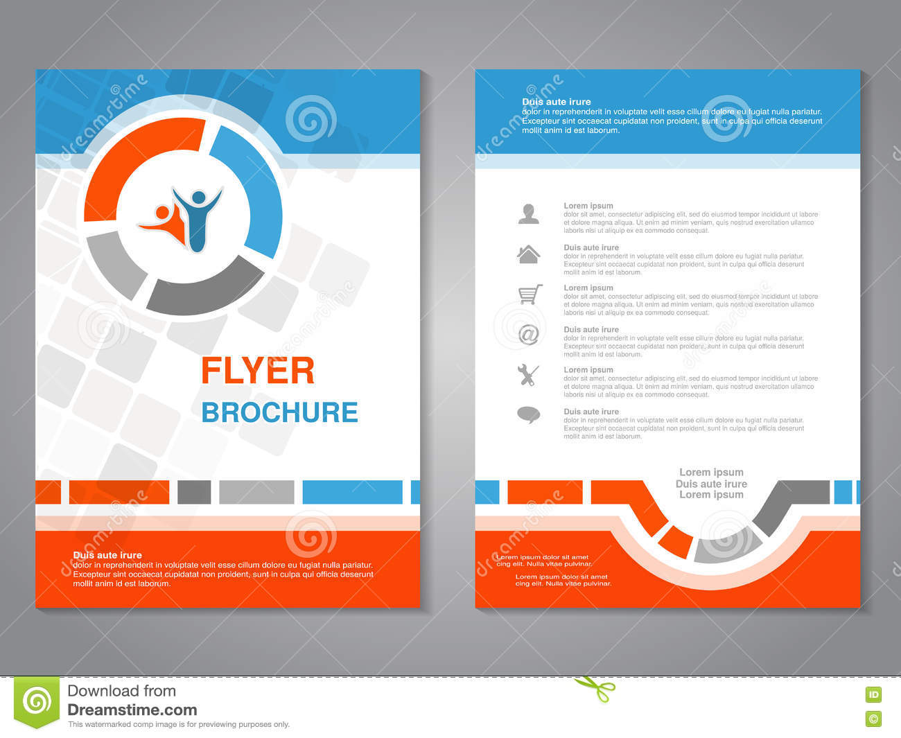 Poster design layout templates - Modern Brochure Abstract Flyer With Simple Squared Design Layout Template Aspect Ratio For