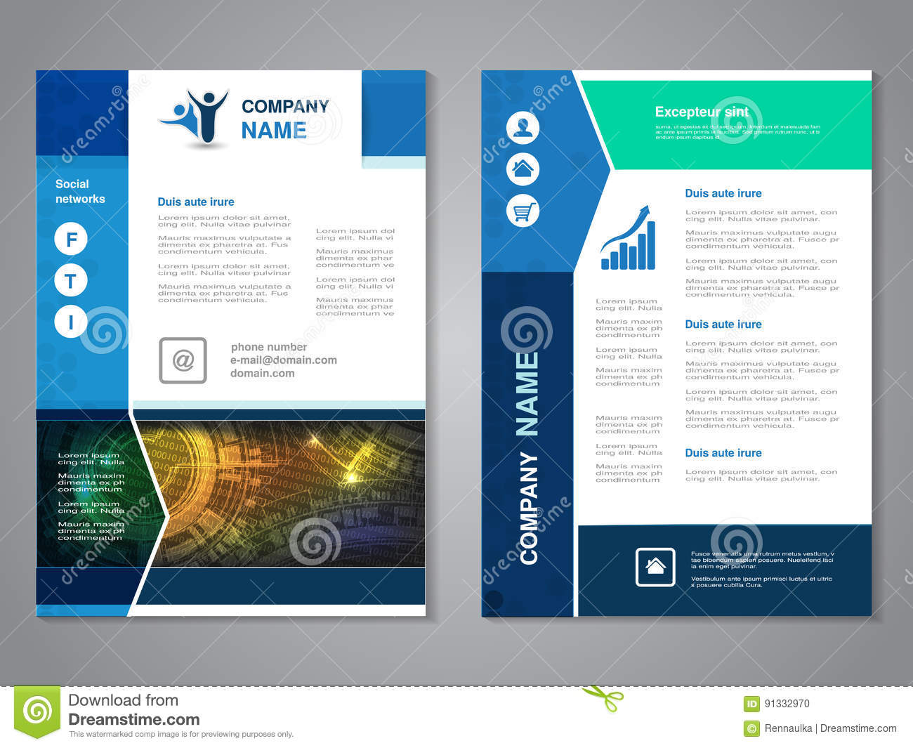 Modern brochure with arrow design, abstract flyer with technology background. Layout template. Aspect Ratio for A4 size. Poster of