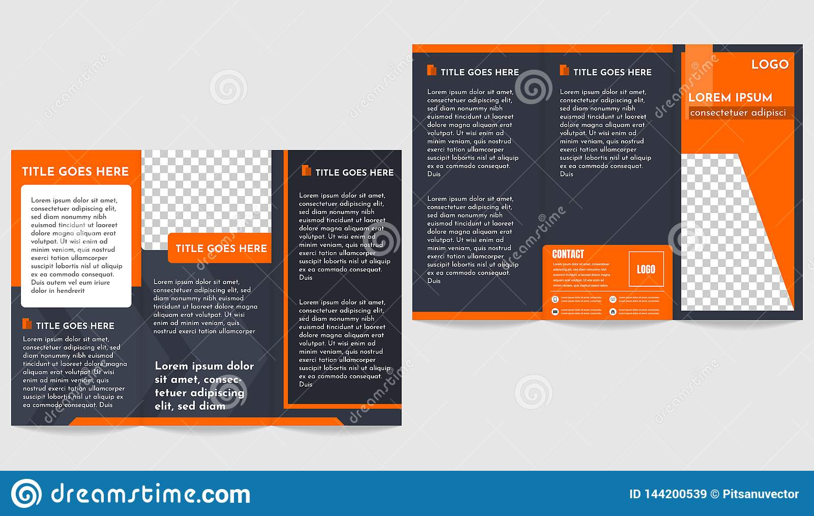 Modern Brochure business trifold flyer template