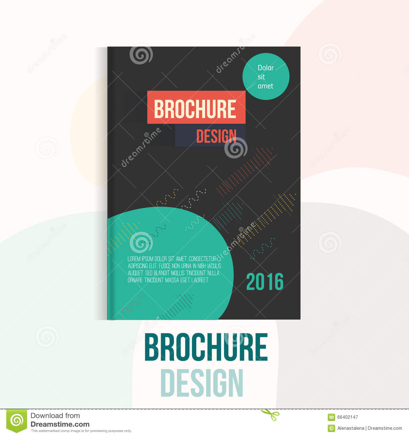 Modern Book Cover Design Template : Book cover print template with abstract shapes cartoon
