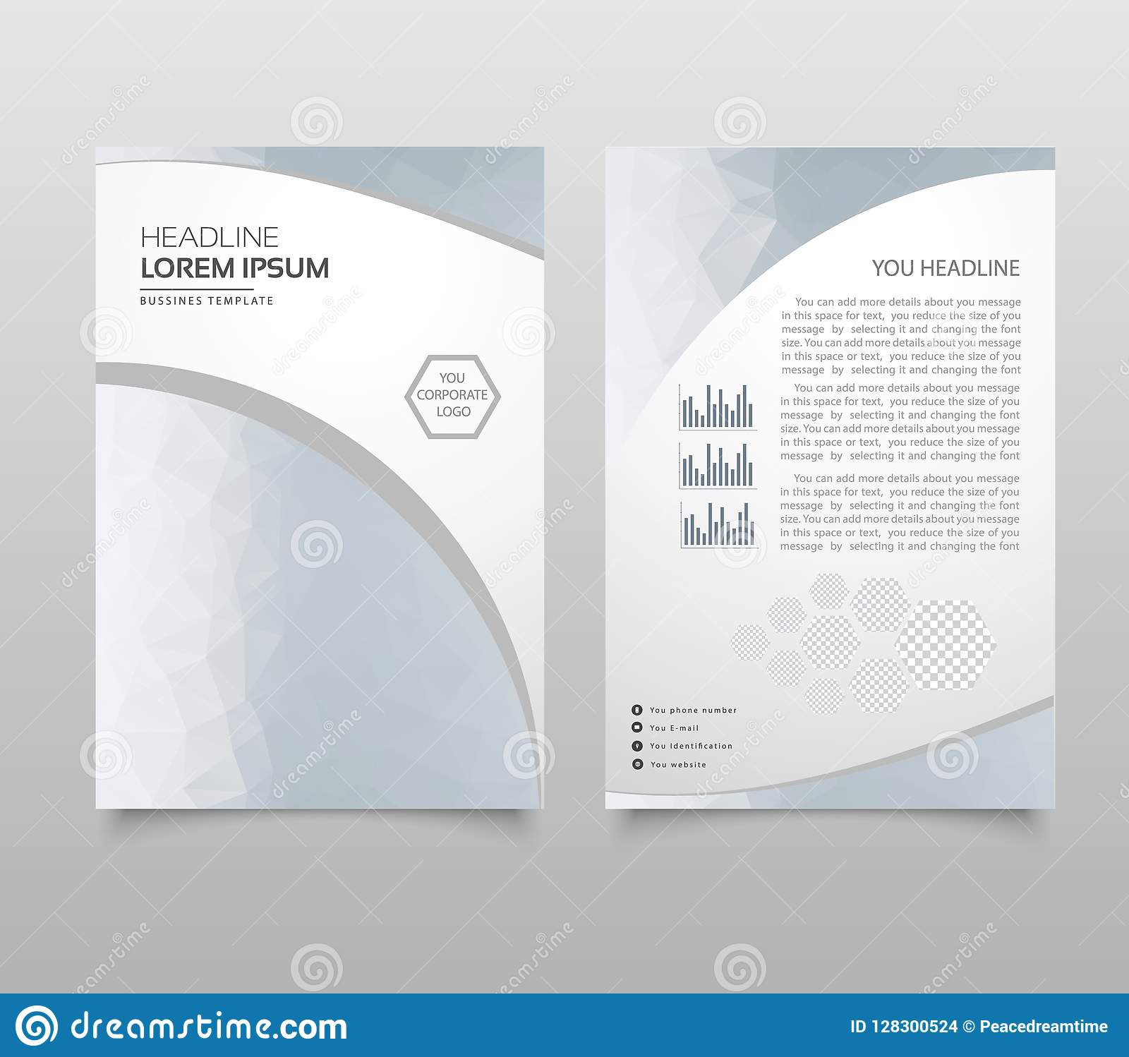 modern brochure layout flyer and cover design template with