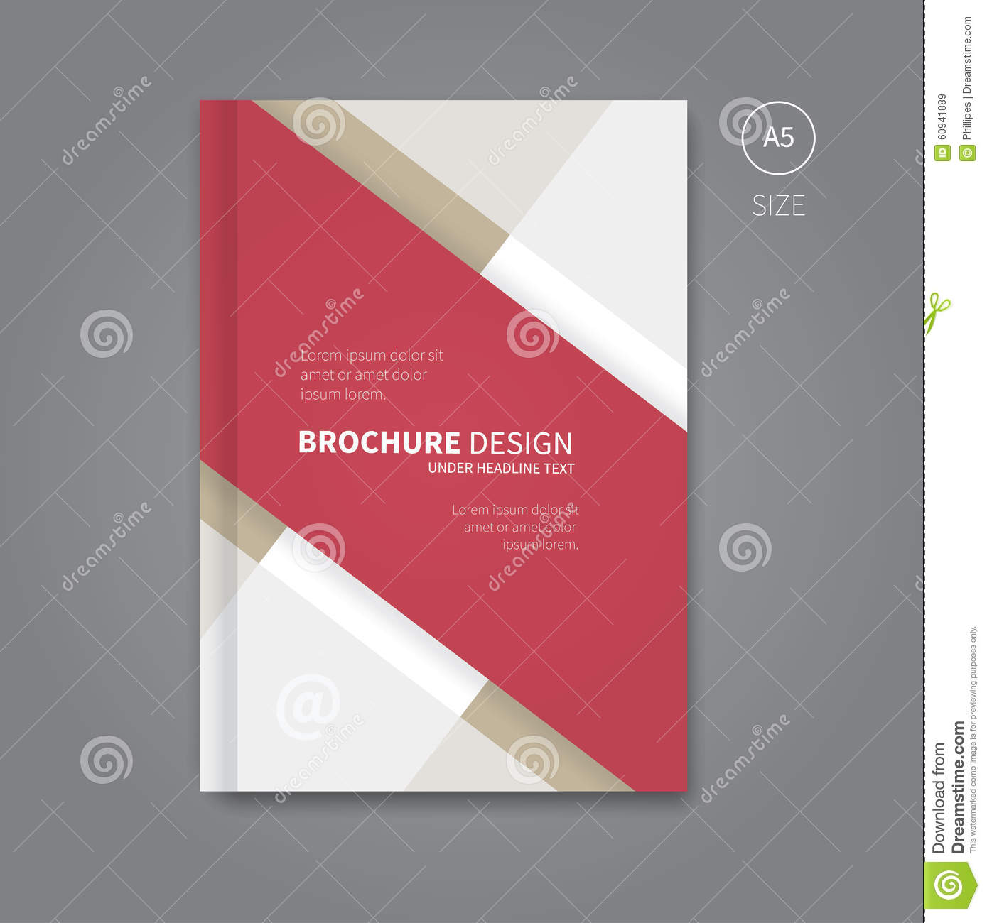 Book about color red - Modern Brochure Layout In Red Color
