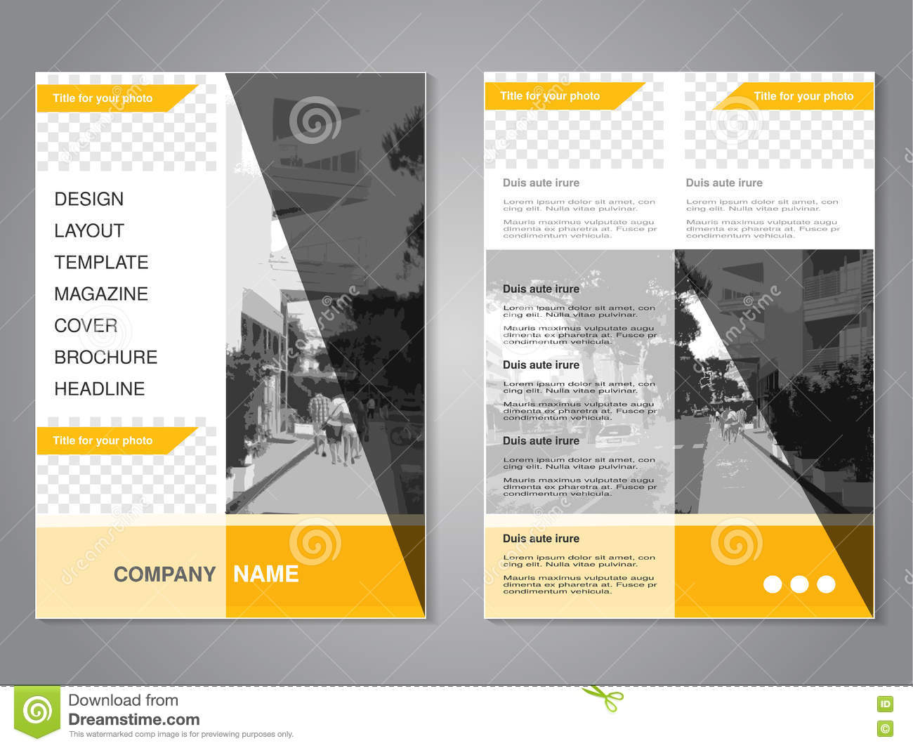 Corporate brochure flyer design layout template in a4 size with bleed - Abstract Triangle Geometric Brochure Flyer Design Layout