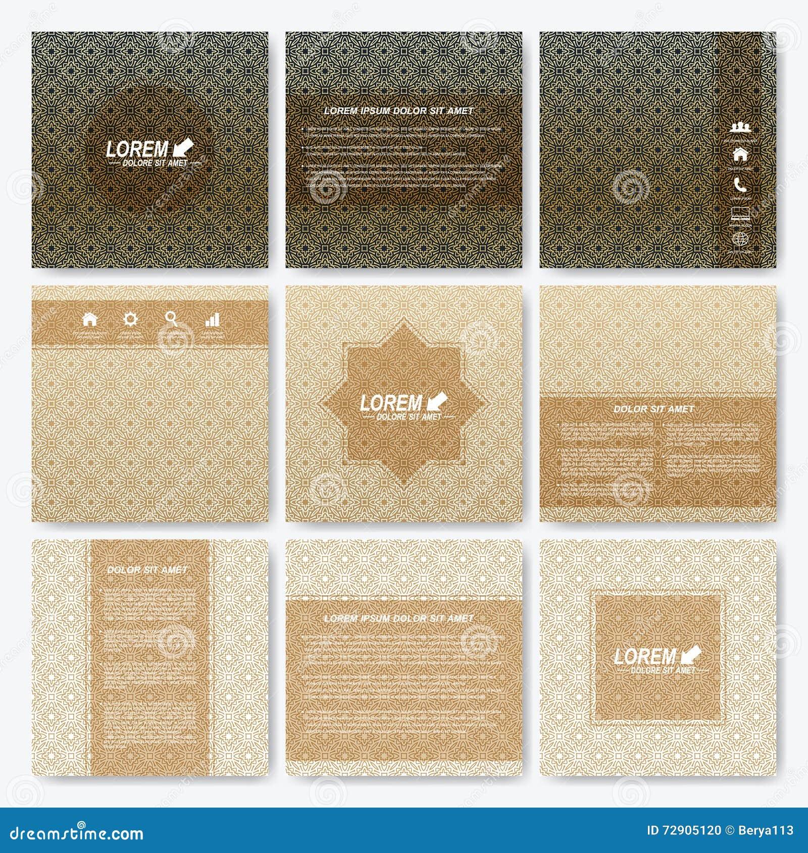 Modern broschyr, broschyr, räkning, tidskrift eller årsrapport för vektormallfyrkant