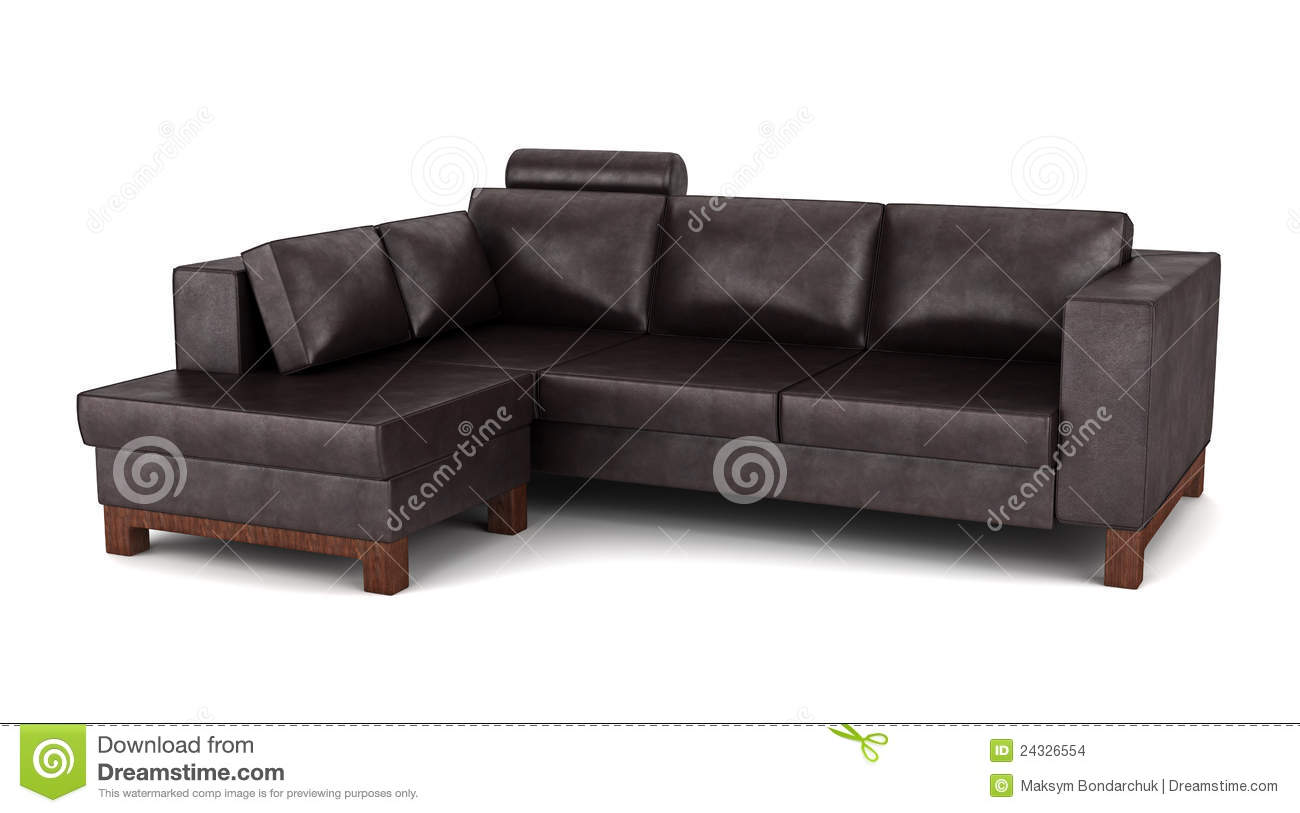 brown leather sofa isolated - photo #9