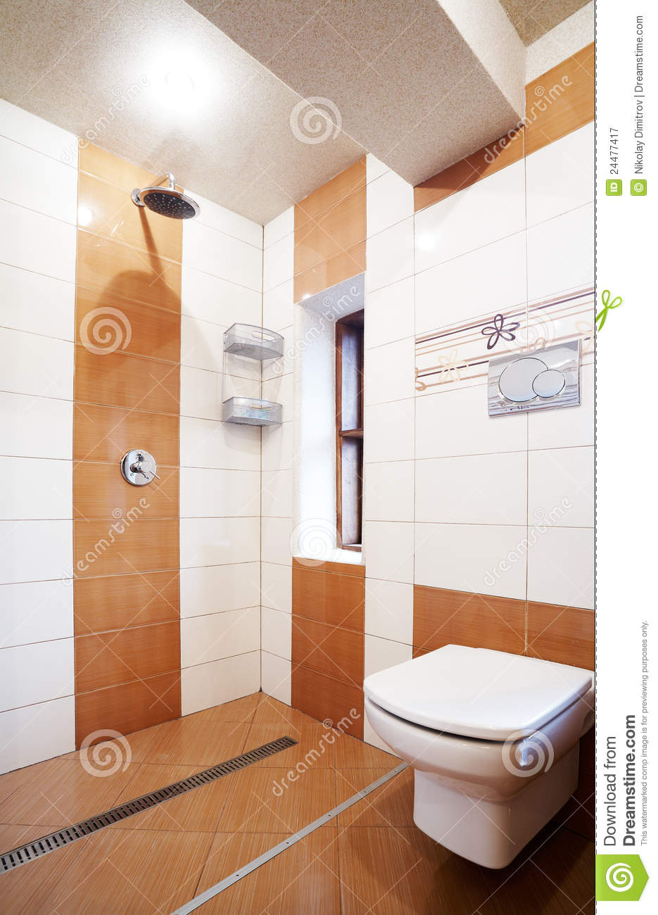 Modern Brown And White Bathroom Royalty Free Stock Photography Image 24477417