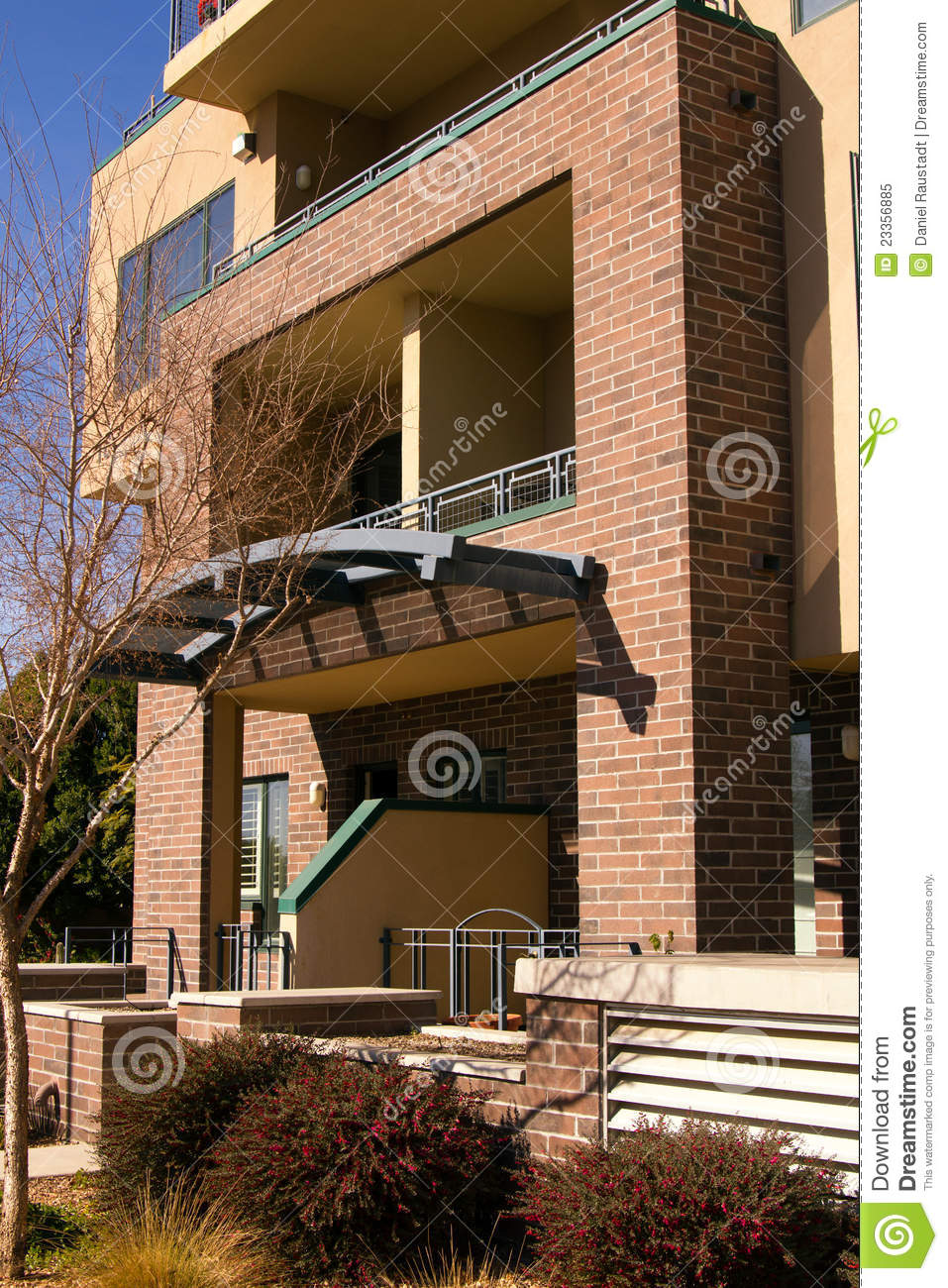 Modern Brownstone Condo Town Homes Stock Image Image