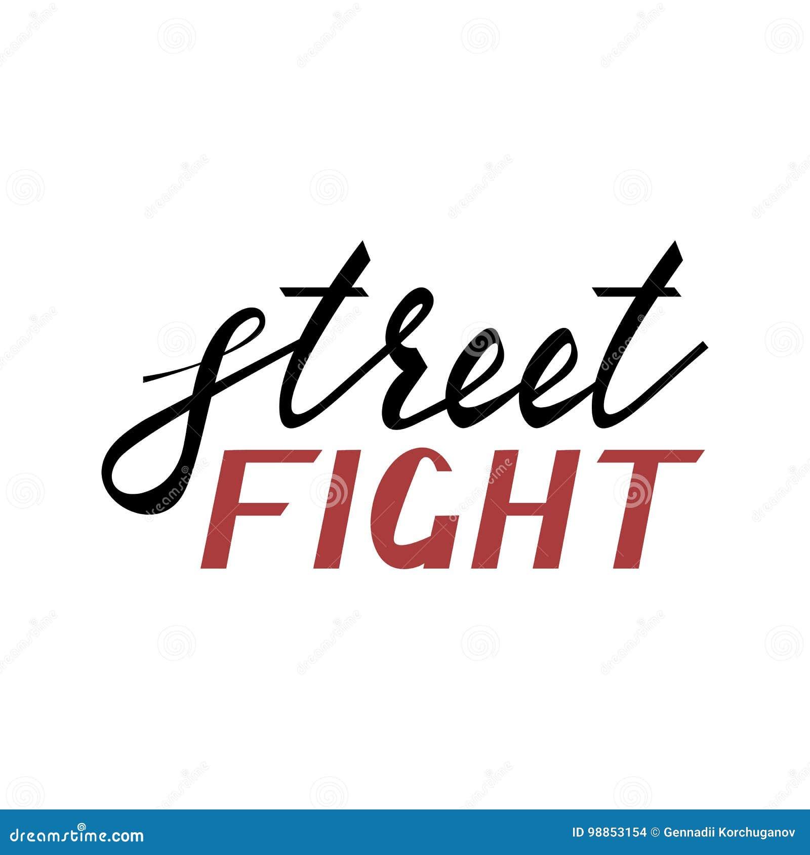 Modern Brush Inscription Street Fight Stock Vector Illustration Of Banner Mixed 98853154