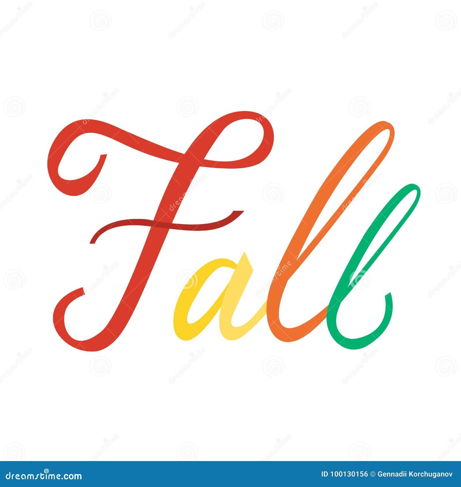 modern brush phrase fall stock vector illustration of font 100130156