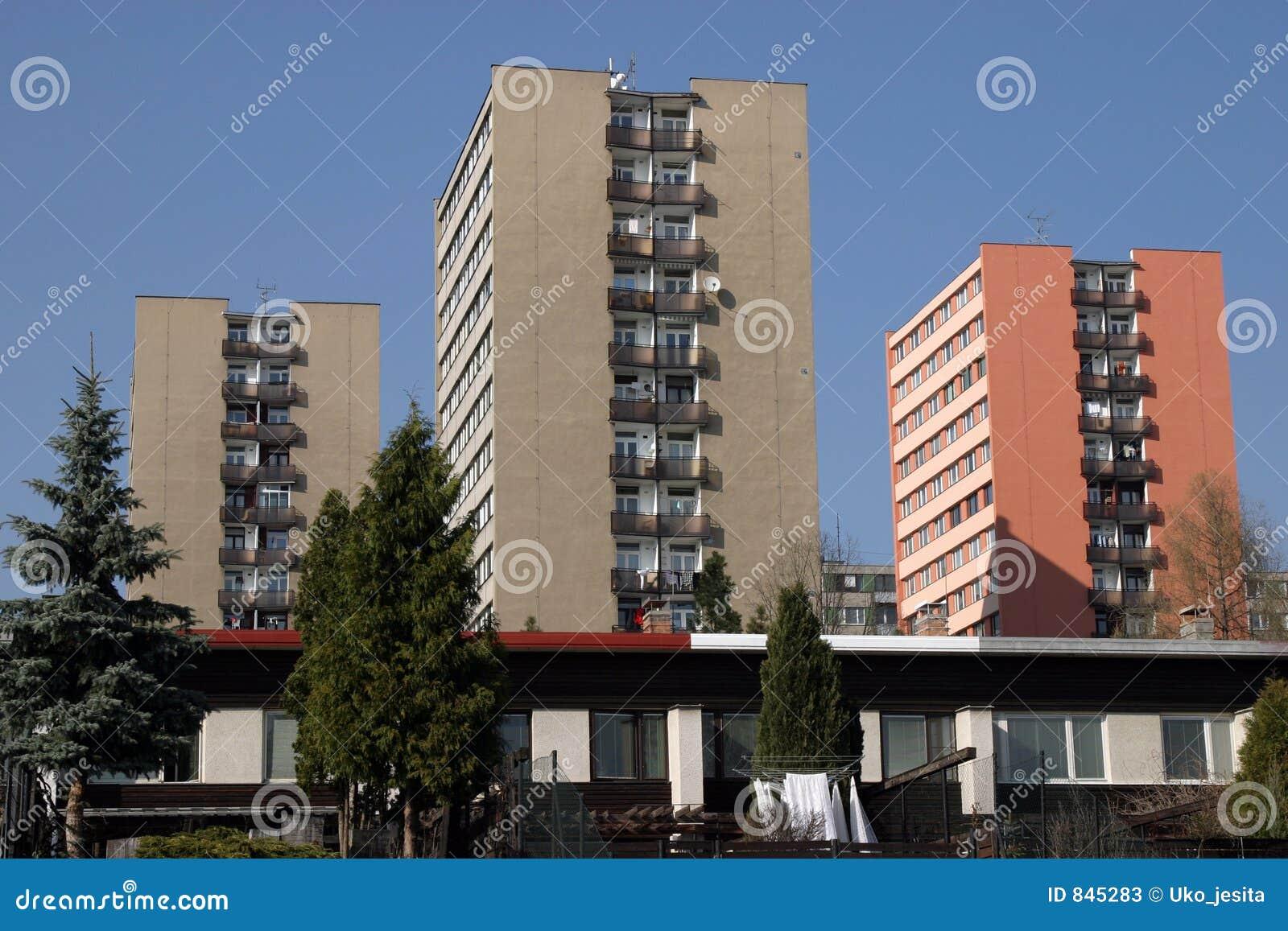 Modern building apartment