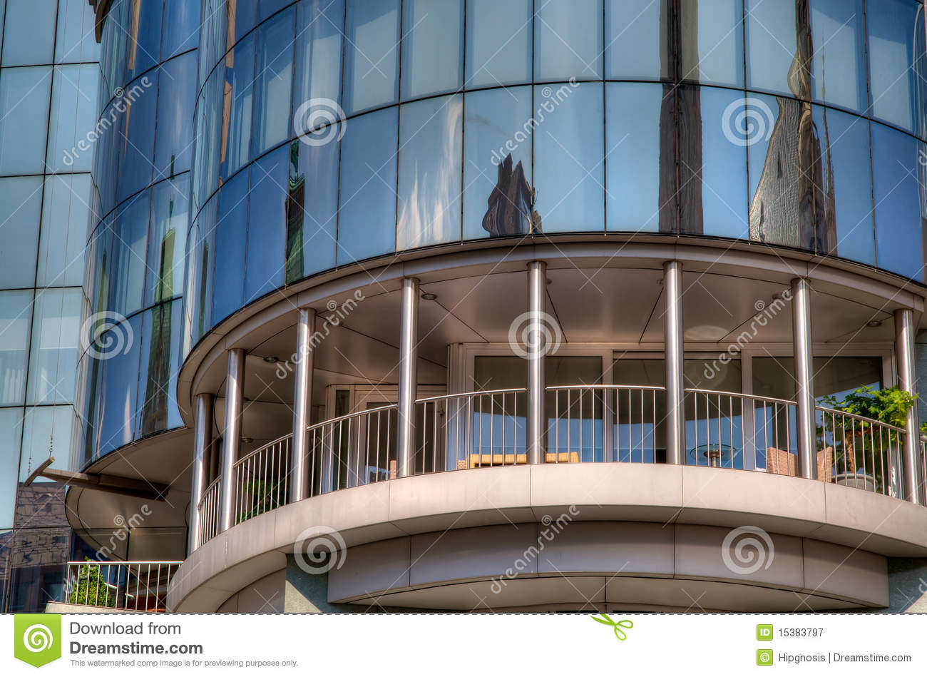 Modern building balcony royalty free stock photography for Building balcony
