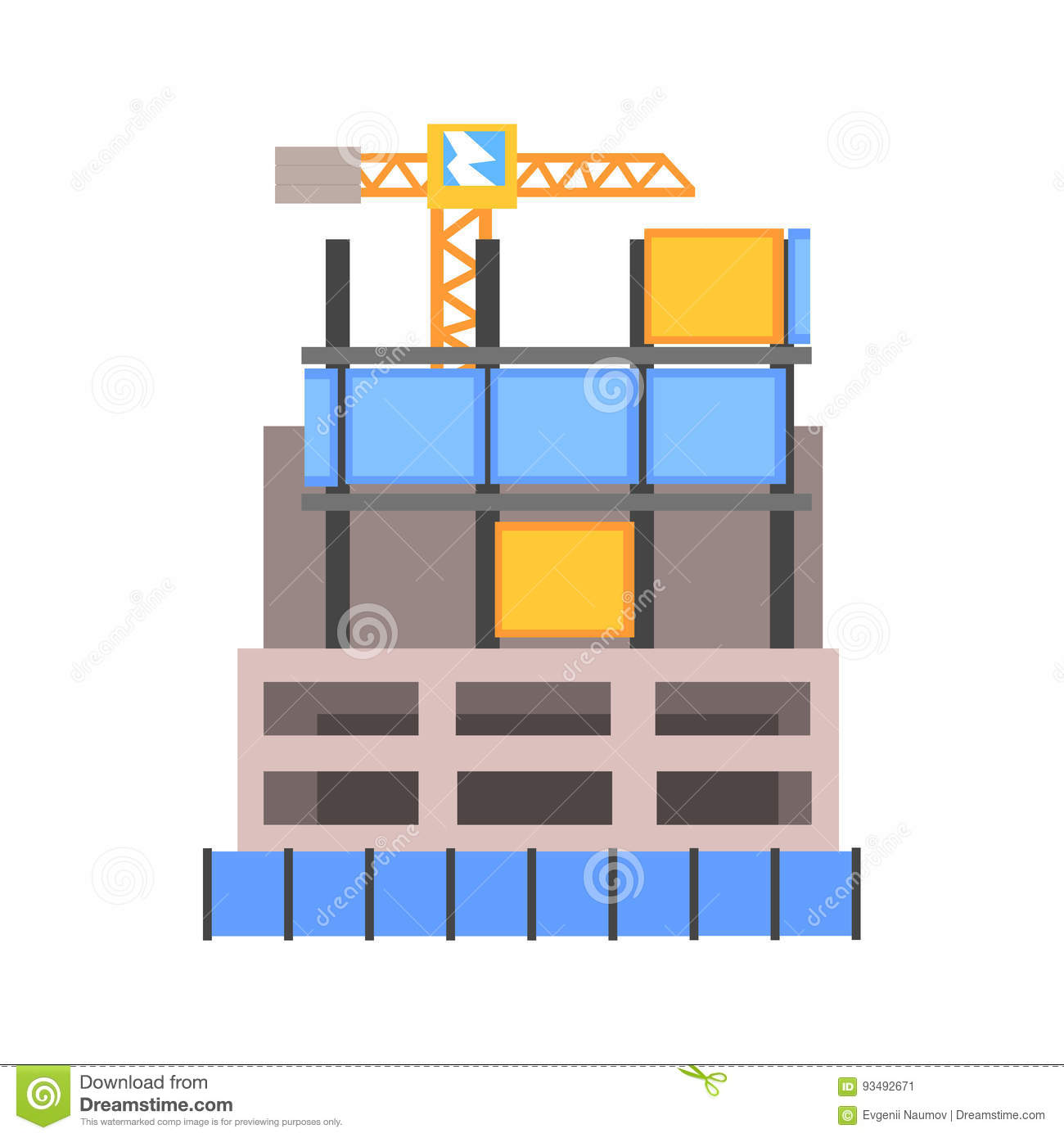 Reinforcement cartoons illustrations vector stock for Modern building construction