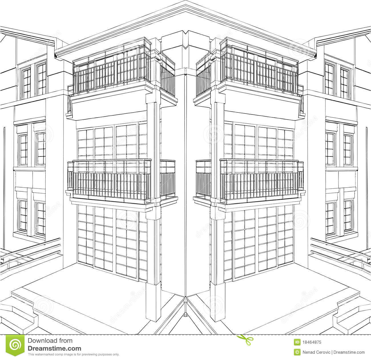 Modern Building orner esidential House Vector 09 oyalty Free ... - ^