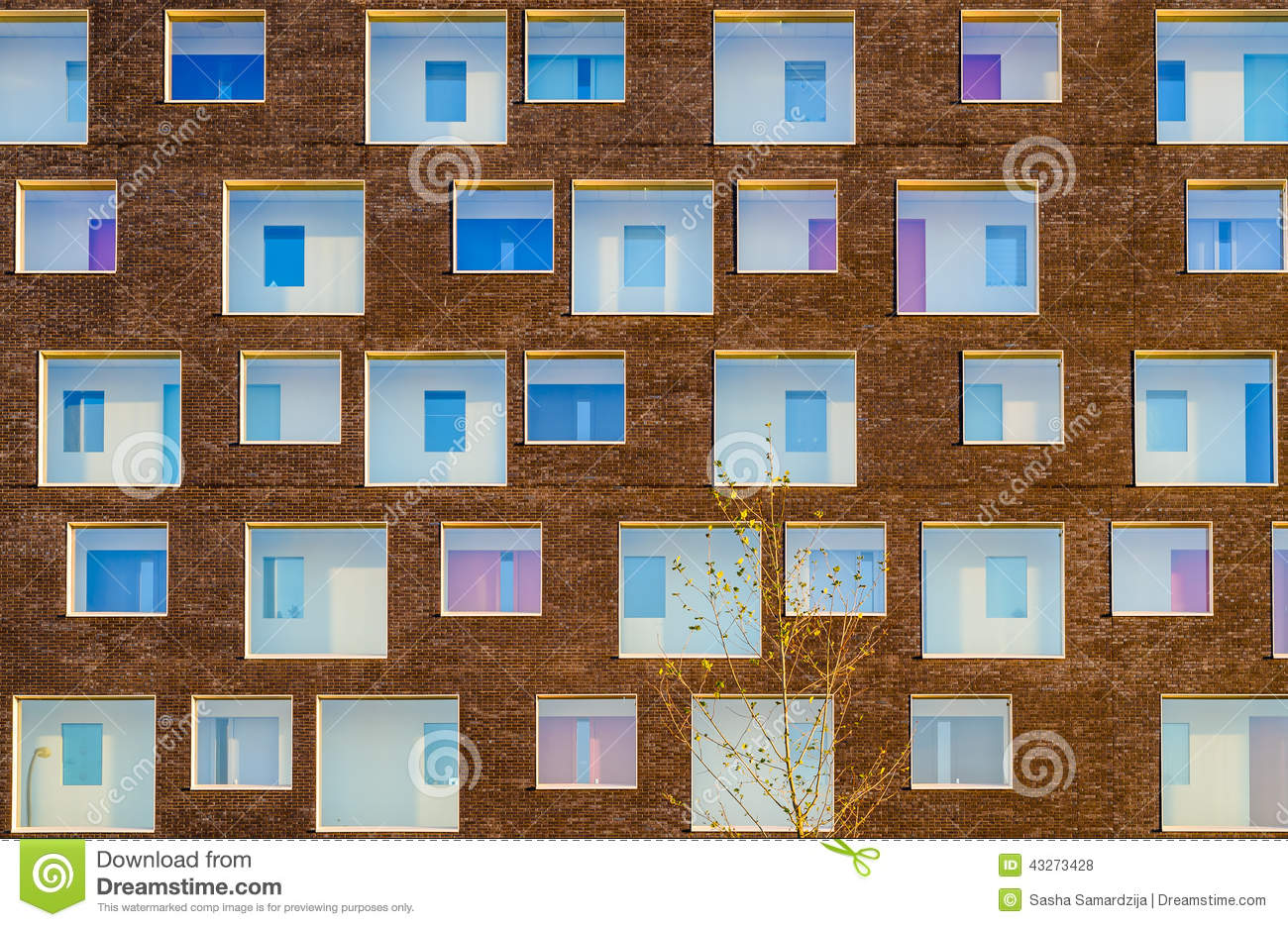 Modern building facade stock photo image 43273428 for Window shapes and sizes