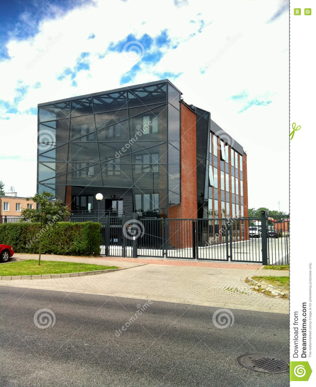 Modern Building With Glass Elevation Stock Photo Image Of Modern