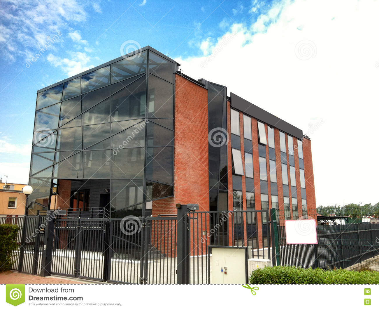 Modern Building With Glass Elevation Stock Photo Image Of Wall