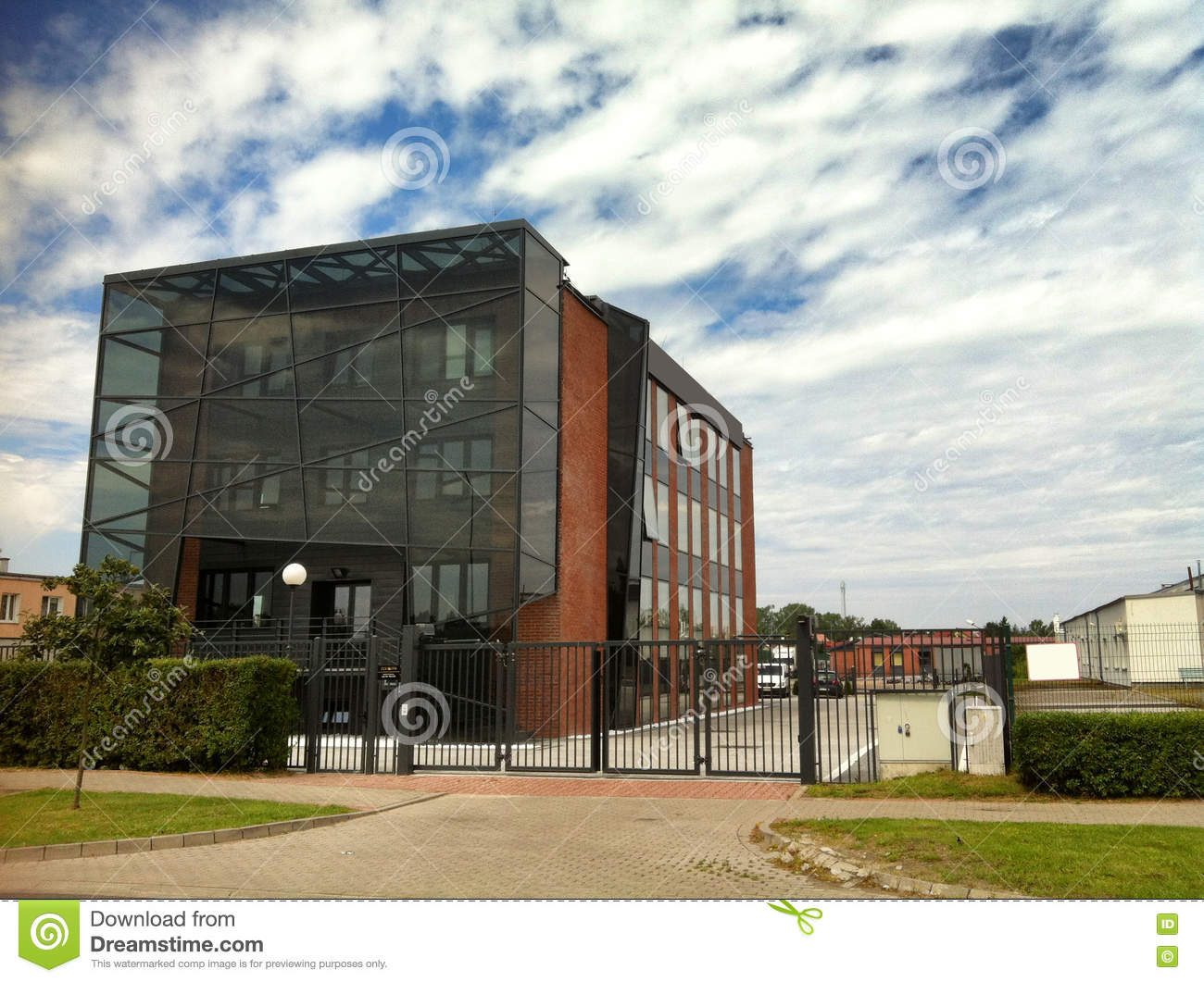 Modern Building With Glass Elevation Stock Photo Image
