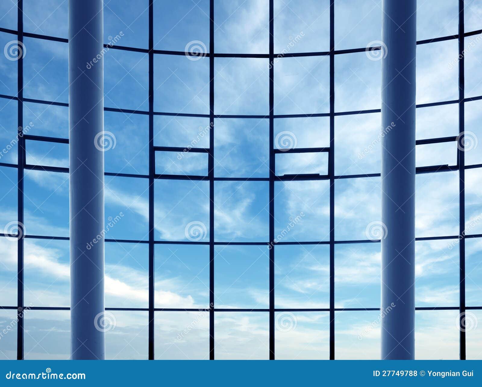 Modern Building Indoor: Office Window Royalty Free Stock ...