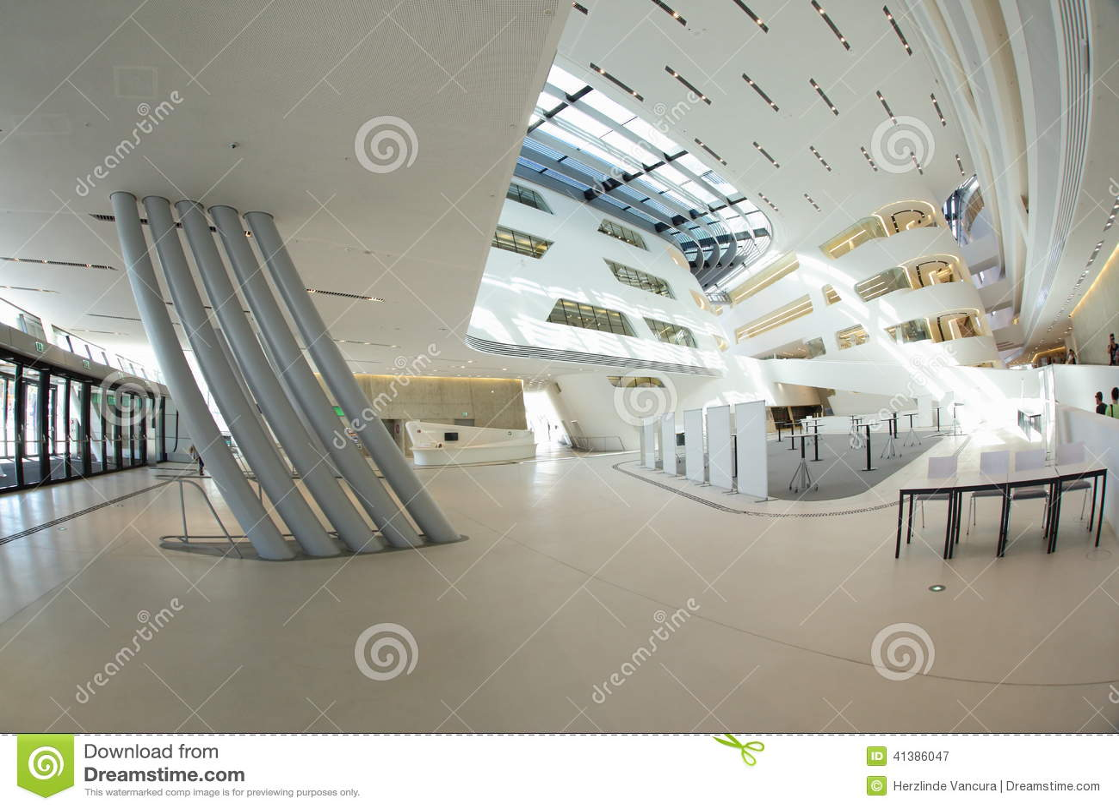 modern building interior stock photo image 41386047. Black Bedroom Furniture Sets. Home Design Ideas