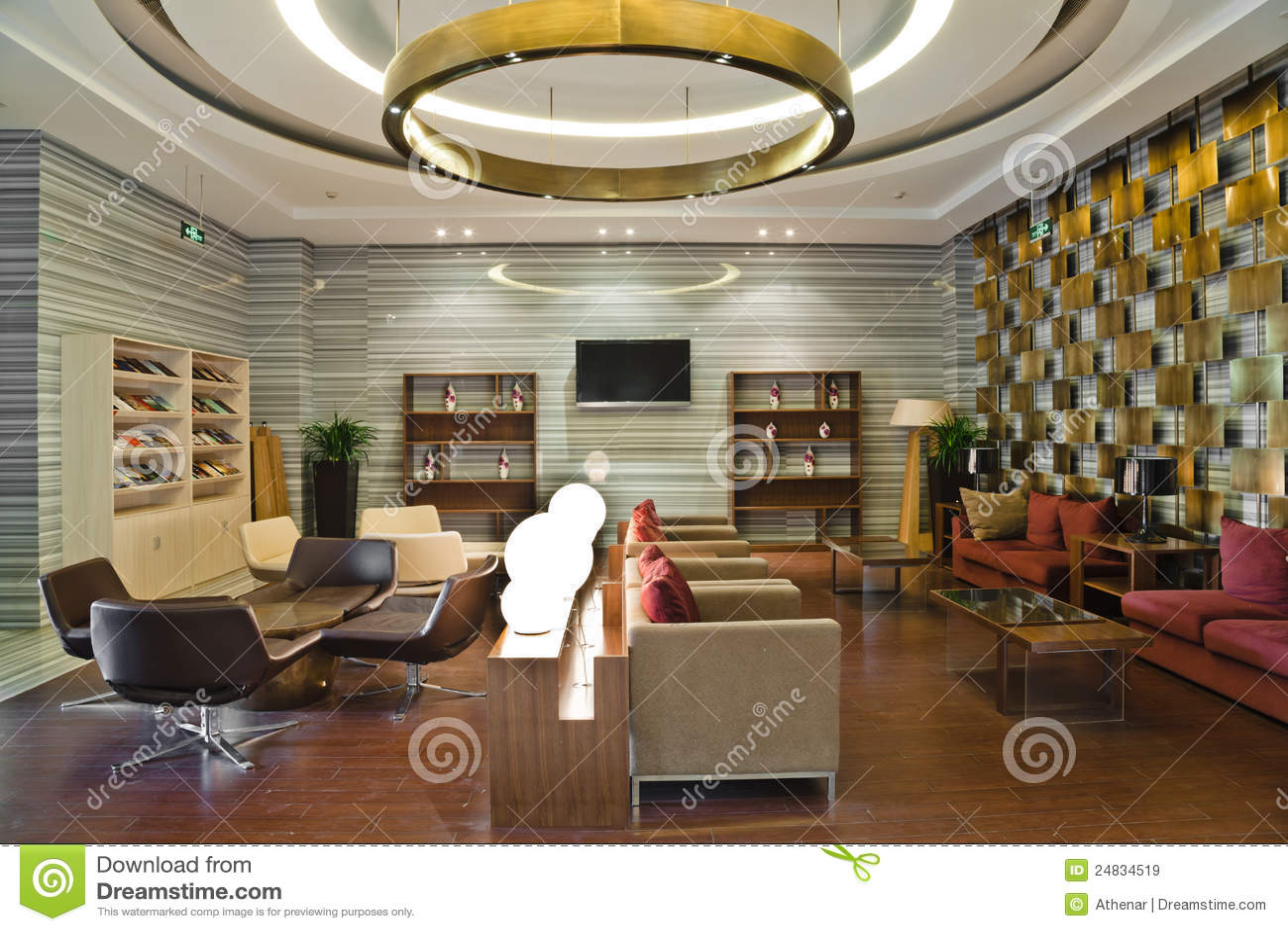 Modern Building Lobby Lounge Stock Image