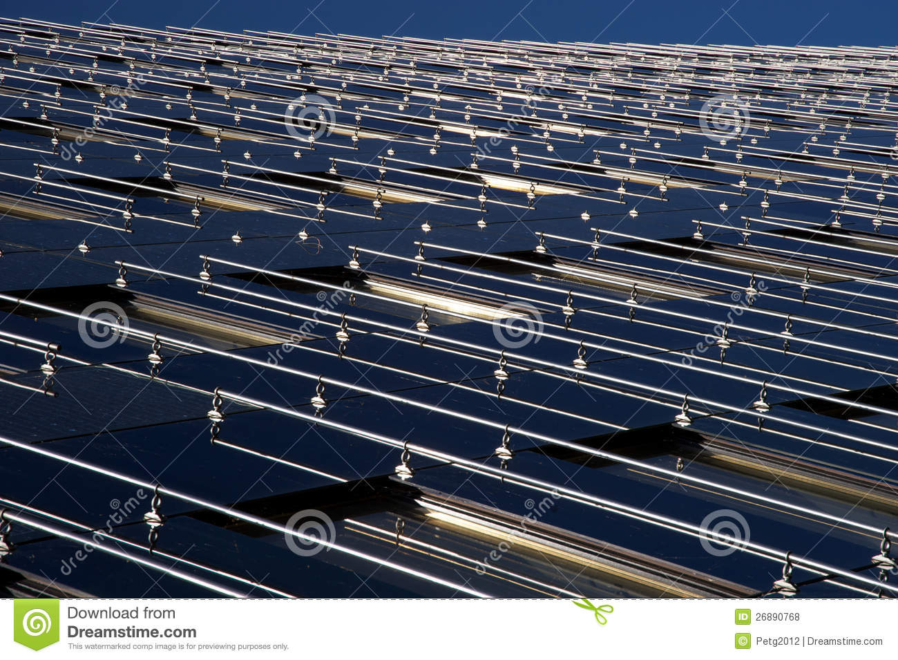 Modern Building Surface With Solar Panels Royalty Free