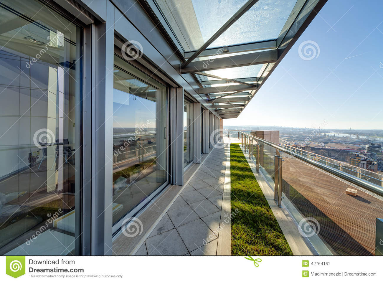 Modern building terrace stock photo image 42764161 for Terrace building